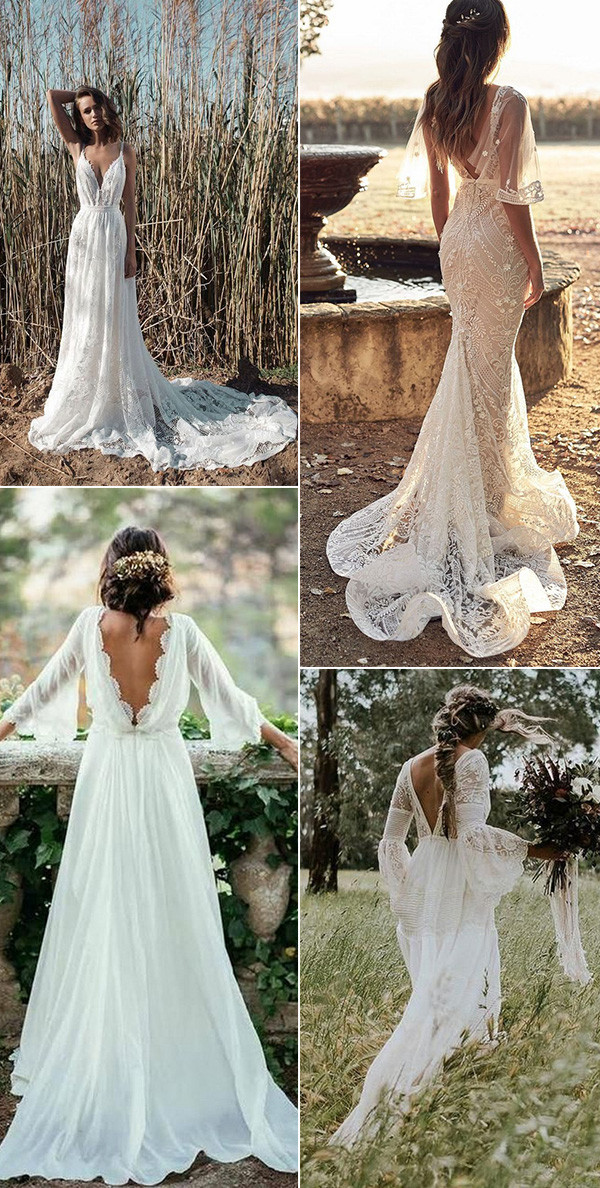 gorgeous boho chic wedding dresses 4