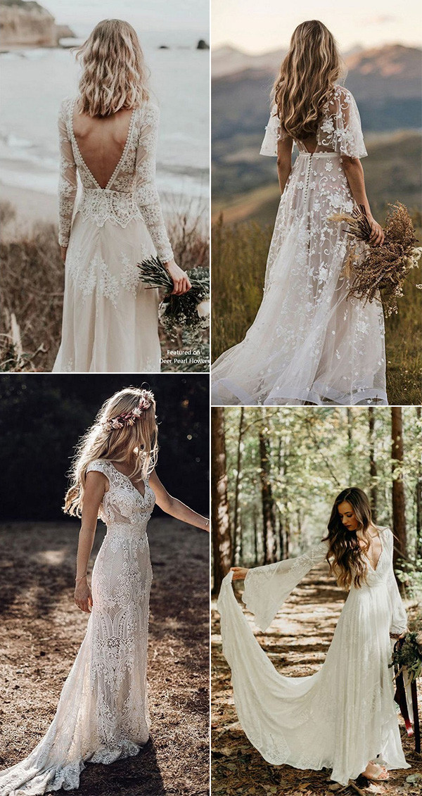 gorgeous boho chic wedding dresses