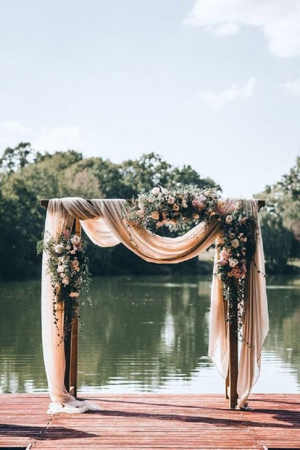 outdoor wedding ceremony arch ideas for 2020