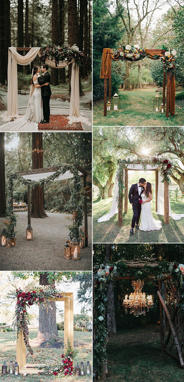 outdoor wedding ceremony arches for 2020