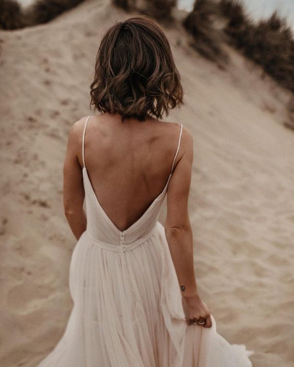 simple Maggie Sottero wedding dress with straps