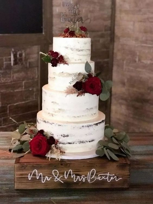Trending Simple and Rustic Wedding Cakes