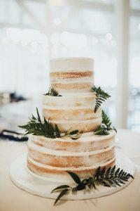 chic naked rustic wedding cake