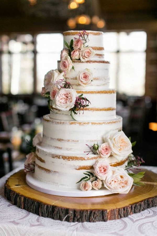 floral rustic wedding cake ideas