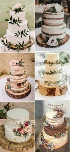simple and rustic wedding cake ideas for fall and winter