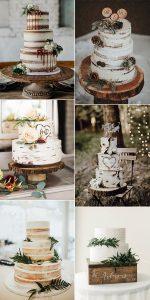trending country rustic wedding cakes