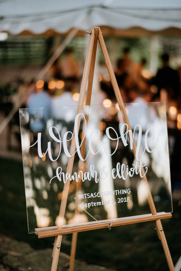 acrylic wedding welcome sign ideas