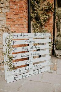 boho chic rustic wedding sign