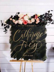 boho floarl wedding sign ideas
