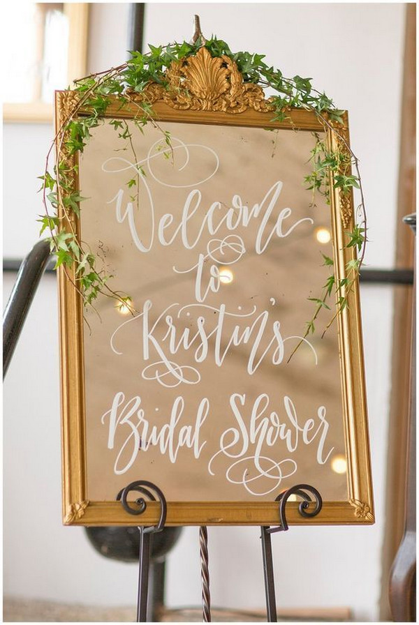 bridal shower sign ideas