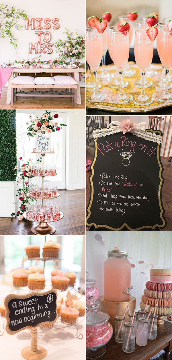 chic pink bridal shower decoration ideas