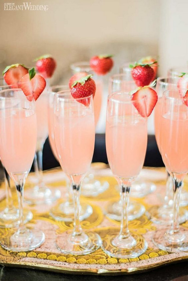 pink bridal shower drink ideas