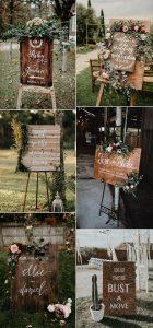 rustic bobo chic wooden wedding signs