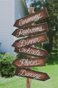 rustic simple wedding sign ideas