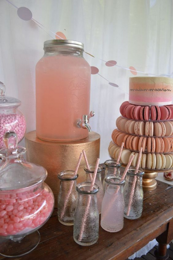 shades of pink bridal shower decoration ideas