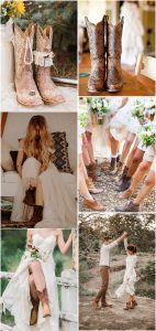 country rustic wedding ideas with cowgirl boots
