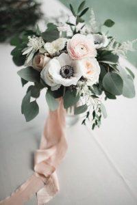 elegant blush and sage wedding bouquet