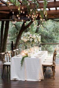 Calistoga Ranch wedding reception ideas for small weddings