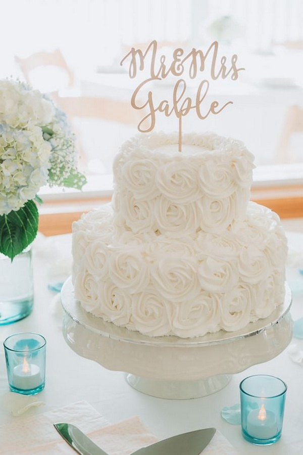 all white elegant wedding cake