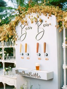 beer bar for outdoor wedding ideas