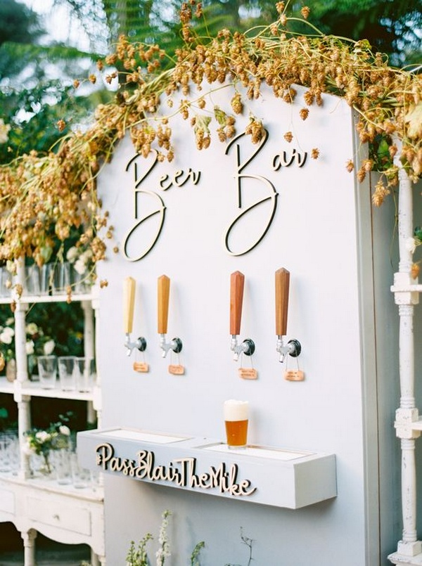 beer bar for outdoor wedding ideas