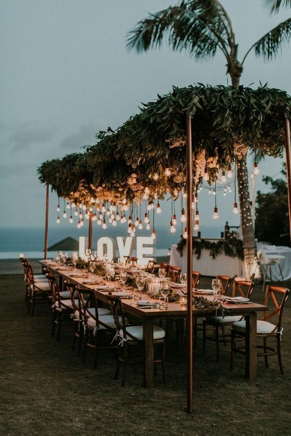boho beach intimate wedding reception decoration ideas