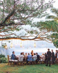 cliffside small wedding reception ideas with lanterns