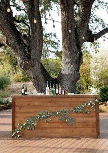 cocktail hour wedding bar decoration ideas