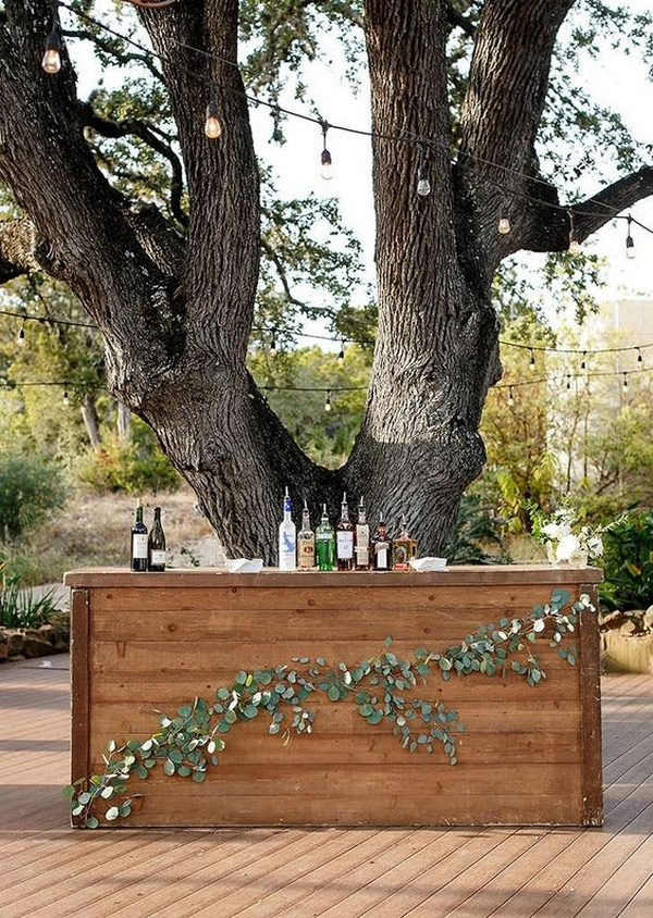cocktail hour wedding bar decoration ideas