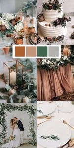 copper and greenery wedding color ideas