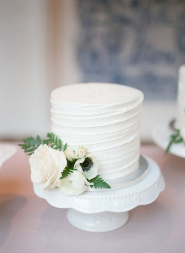 elegant simple wedding cake ideas