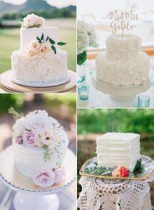 elegant small wedding cakes for intimate weddings