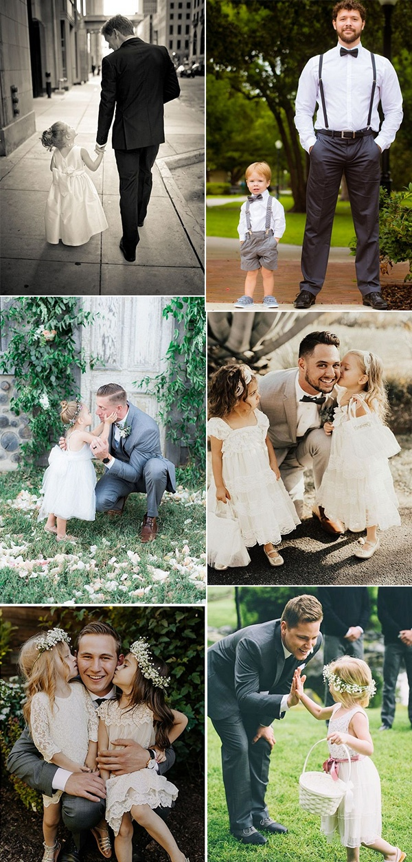 groom and kids cute wedding photo ideas