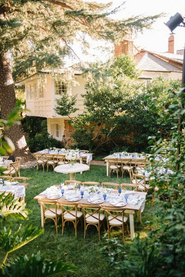 intimate backyard wedding reception ideas