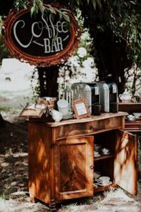 outdoor coffee bar for vintage weddings