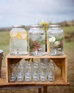 outdoor rustic small wedding bar ideas