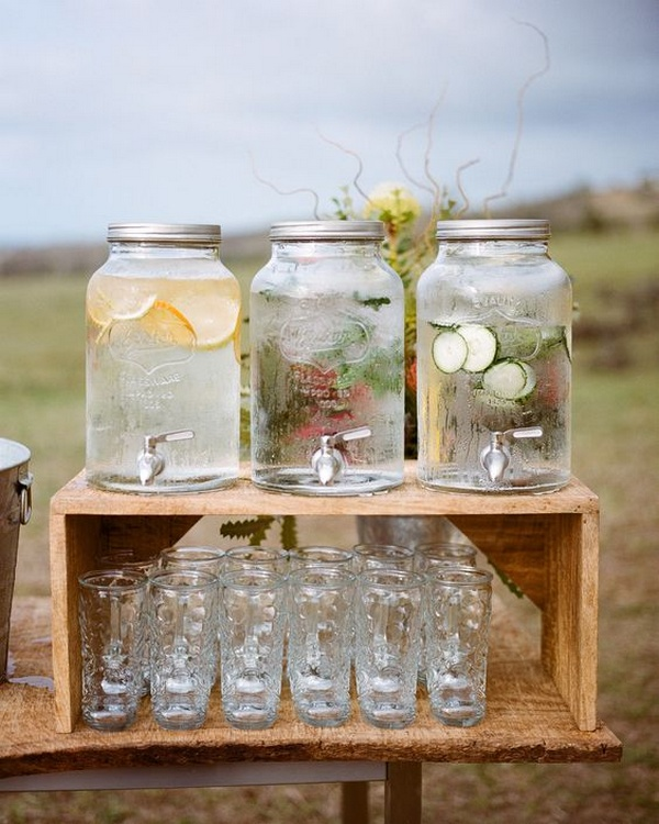 outdoor rustic small wedding bar ideas