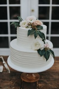 pretty pastel wedding cake for intimate weddings
