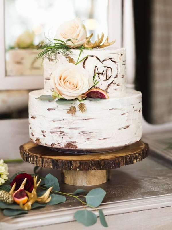 rustic small wedding cake ideas