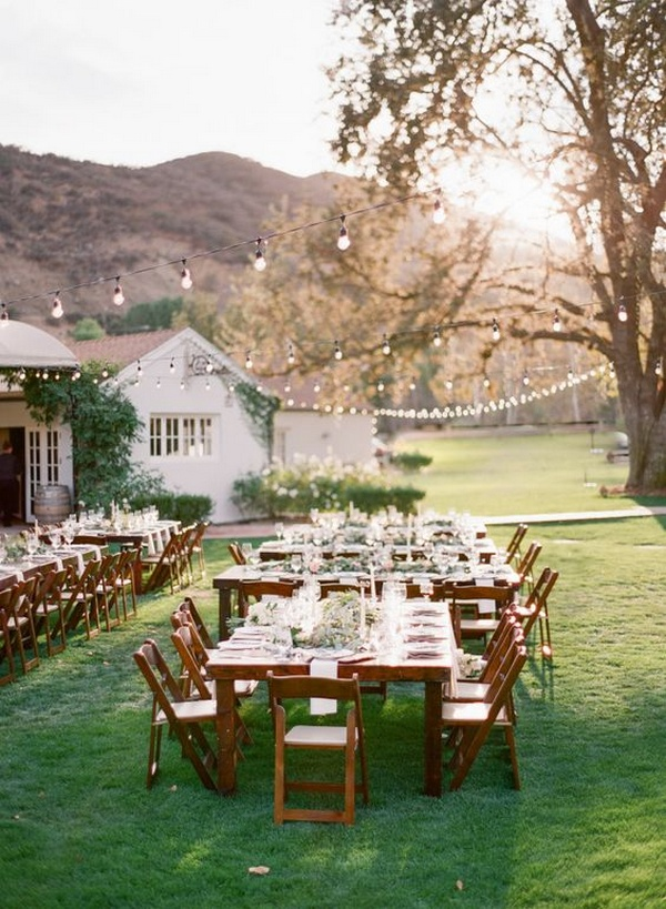 small backyard rustic chic wedding reception ideas