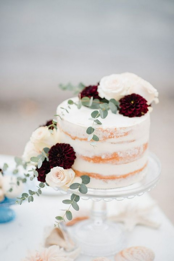 small fall wedding cake for intimate weddings