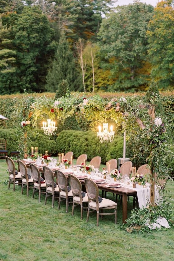 small garden wedding reception ideas
