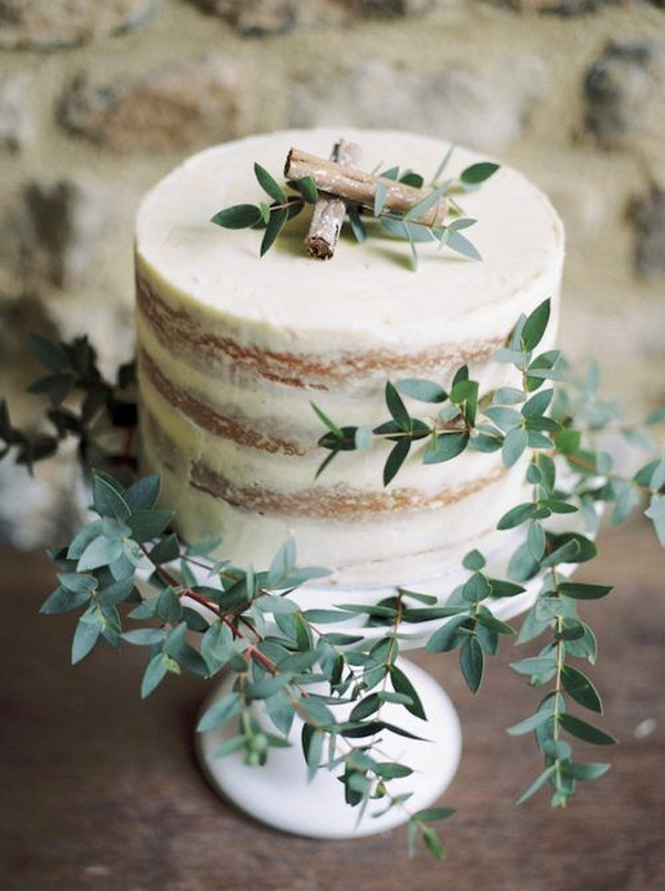 stunning semi naked small wedding cake