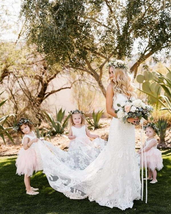sweet sweet wedding photo ideas with flower girls