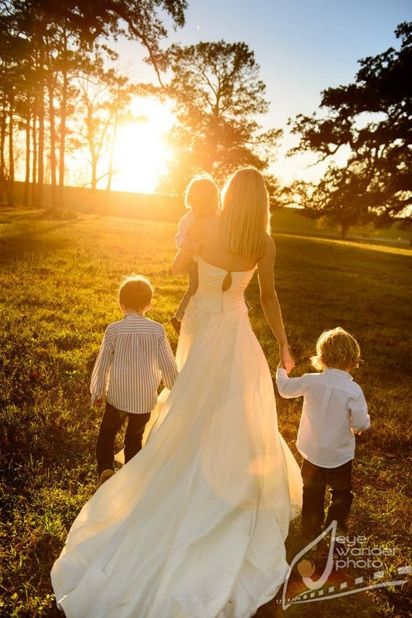 sweet wedding photo ideas with children