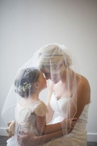 sweet wedding photography ideas bride and kids