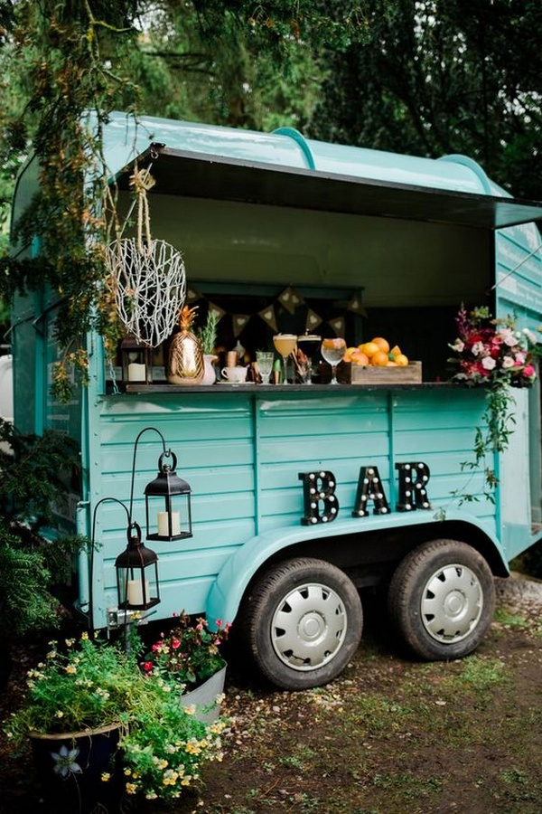 trending food and drink truck bar wedding ideas