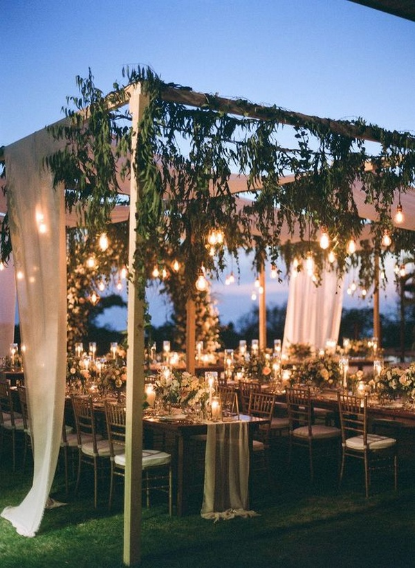 trending intimate wedding reception ideas with floral arbors