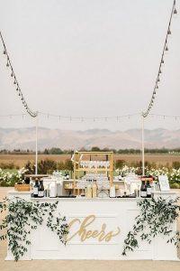 white wedding bar ideas