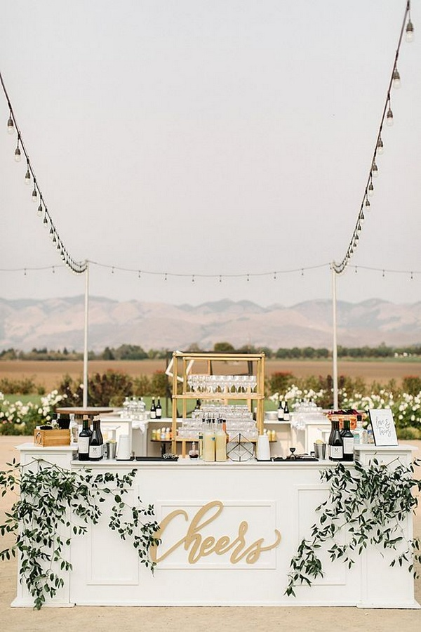 white wedding bar ideas
